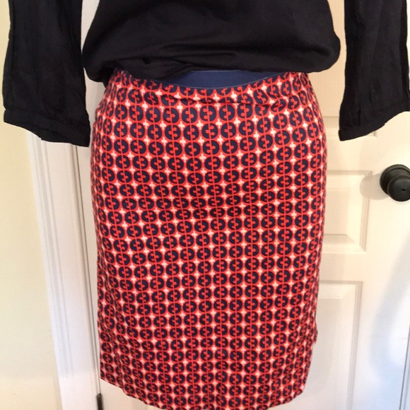 Nice Boden Navy & White Striped Skirt Size 14 Women's Clothing